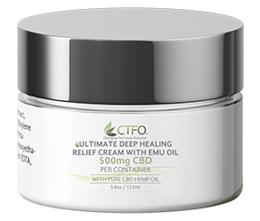 500mg CBD Ultimate Deep Healing Relief Cream with Emu Oil